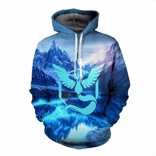 Pokemon Go Team Mystic Symbol North Pole Lake Arctic Ocean Hoodie - Konoha Stuff
