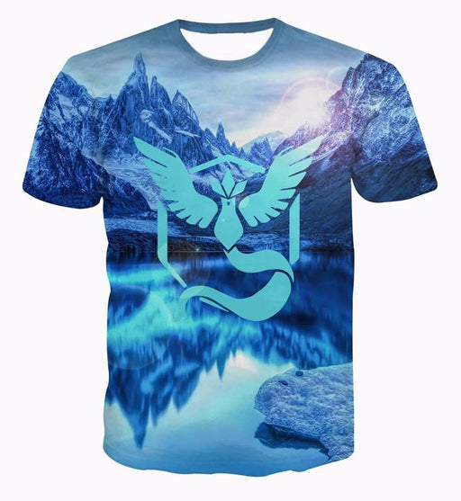 Pokemon Go Team Mystic Symbol North Pole Lake Arctic Ocean T-shirt - Konoha Stuff - 1