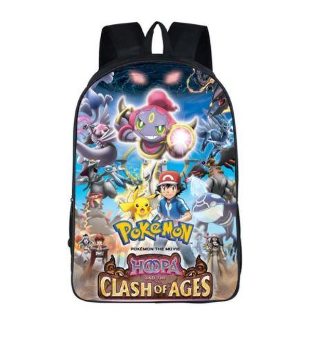 Pokemon Movie Clash of Ages Poster Design School Bag Backpack