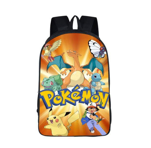 Pokemon Pikachu Charizard Signature School Bag Backpack