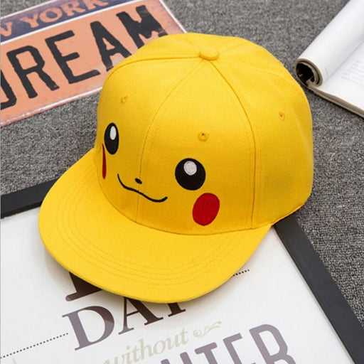 Pokemon Pikachu Cute Anime Yellow Hip Hop Hat Cap Snapback - Konoha Stuff - 1