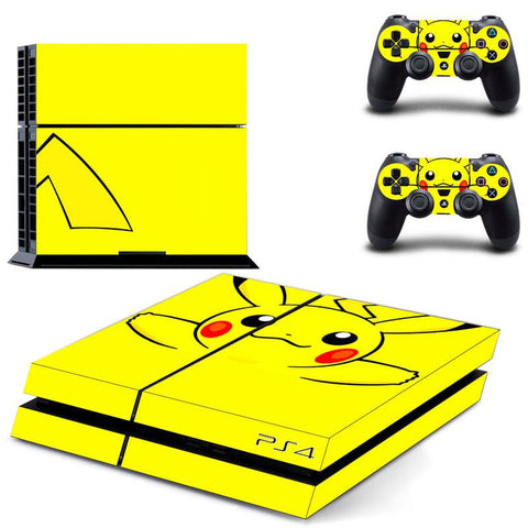 Pokemon Pikachu Cute Yellow Controllers Console PS4 HD Skin Decal - Konoha Stuff