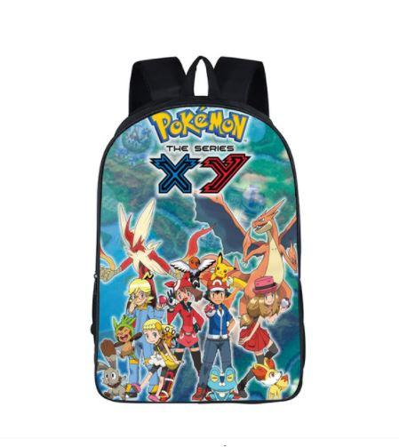 Pokemon Series XY Mega Evolution Poster School Bag Backpack