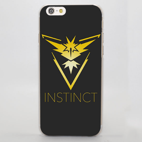 Pokemon Team Instinct Logo Amazing iPhone 4 5 6 7 Plus Case