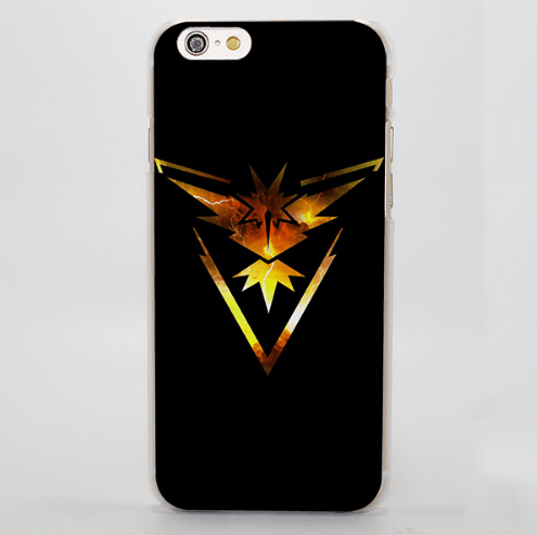 Pokemon Team Instinct Logo Cool iPhone 4 5 6 7 Plus Case