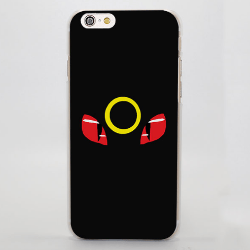 Pokemon Umbreon Eyes Simple Cool iPhone 4 5 6 7 Plus Case