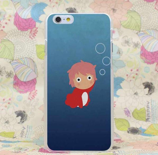 Ponyo Kid Cute Anime Studio Ghibli Japan Theme iPhone 4 5 6 7 Plus Case