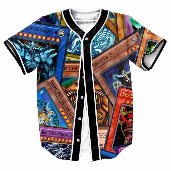 Powerful Highest Attack Yu-Gi-Oh Monster Cards Game Marvelous Baseball Jersey - Konoha Stuff