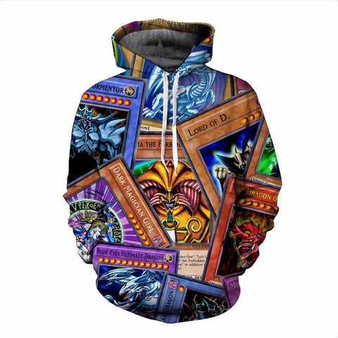 Powerful Highest Attack Yu-Gi-Oh Monster Cards Game Marvelous Hoodie - Konoha Stuff