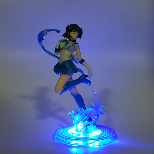 Sailor Moon Gorgeous Sailor Mercury Blue DIY 3D LED Light Lamp
