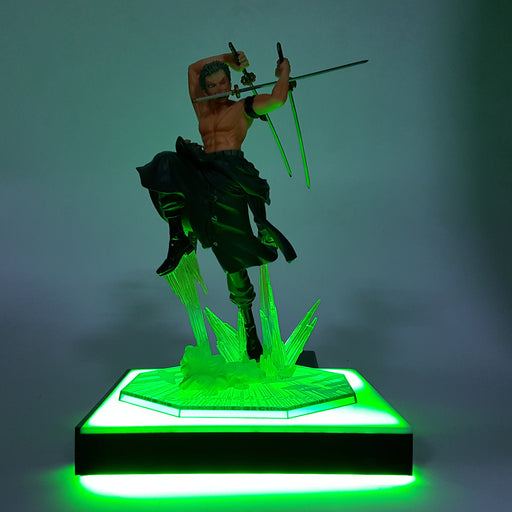 One Piece Roronoa Zoro Santoryu Green Square DIY 3D Light Lamp