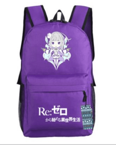 Re Zero Emilia Half Elf Magic Fly Chibi Style Awesome Design Backpack - Konoha Stuff - 1