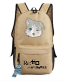 Re Zero Pack Spirit Cat Beast of the End Adorable Design Backpack - Konoha Stuff - 6