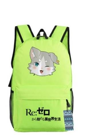 Re Zero Pack Spirit Cat Beast of the End Adorable Design Backpack - Konoha Stuff - 1