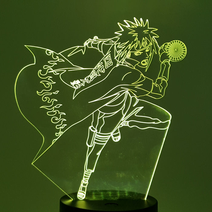 Minato Namikaze Hokage Rasengan Color Changing 3D Illusion Acrylic Lamp