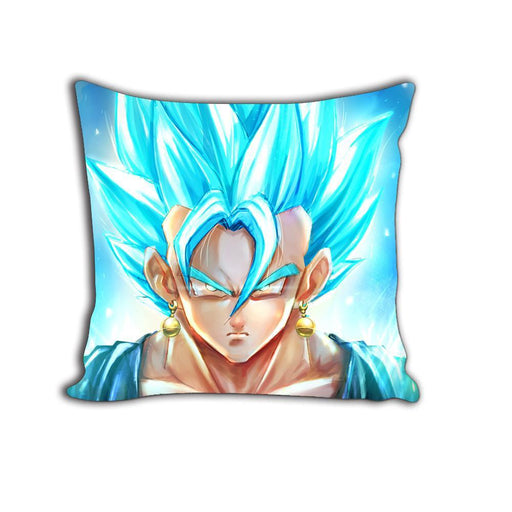 SSJSS Super Saiyan Blue Goku Potara Earings Cool Decorative Throw Pillow