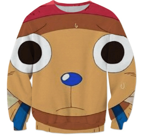 Sad Cute Tony Tony Chopper Face - One Piece Autumn 3D Sweatshirt - Konoha Stuff