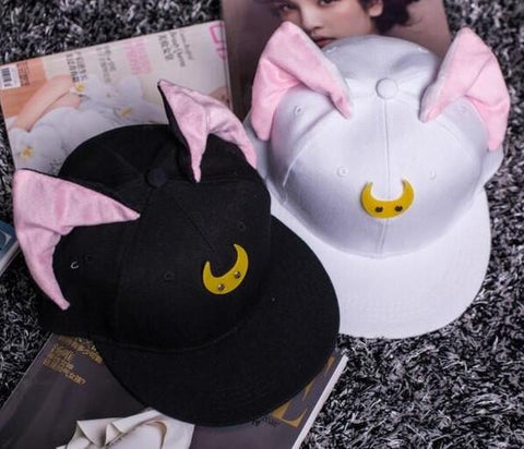Sailor Moon Bishojo Senshi Seramun Cute Crescent Symbol Cool Design Snapback - Konoha Stuff - 1