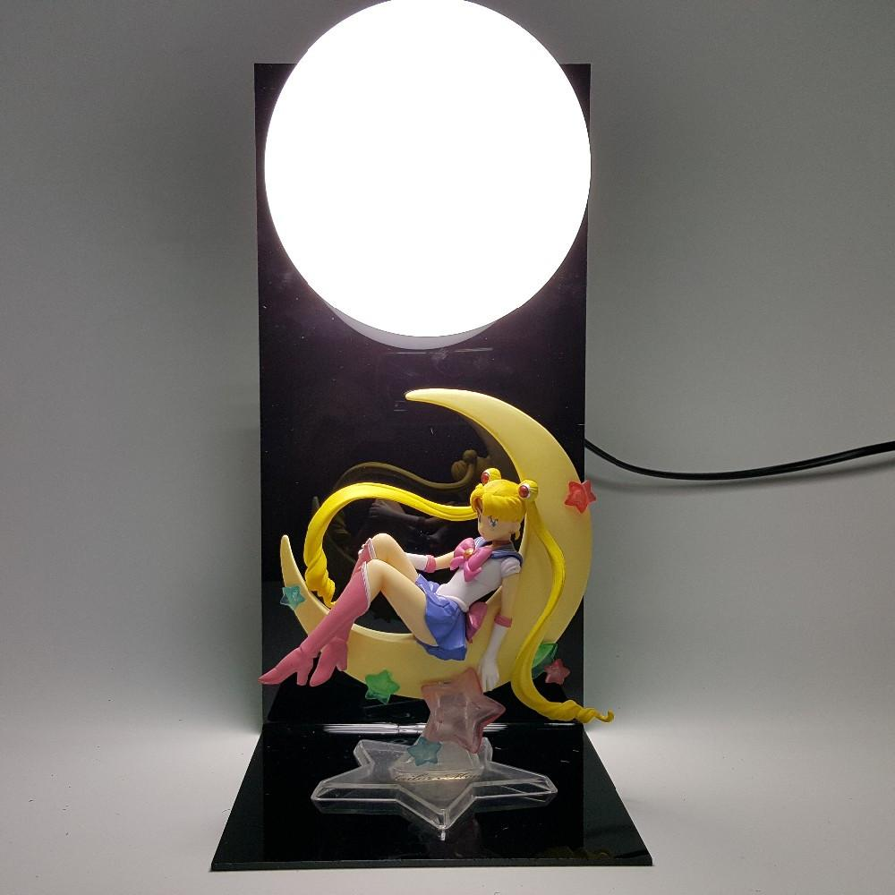 Sailor Moon Manga Usagi Tsukino Display DIY Bedside Lamp - Konoha Stuff