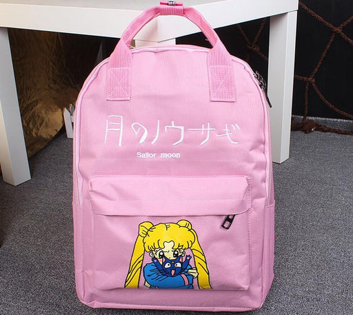 Sailor Moon Usagi Tsukino Lovely Cat Luna Candy Colorful Trendy Backpack - Konoha Stuff - 1