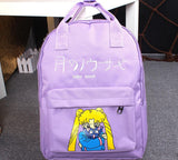 Sailor Moon Usagi Tsukino Lovely Cat Luna Candy Colorful Trendy Backpack - Konoha Stuff - 3