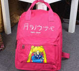 Sailor Moon Usagi Tsukino Lovely Cat Luna Candy Colorful Trendy Backpack - Konoha Stuff - 5
