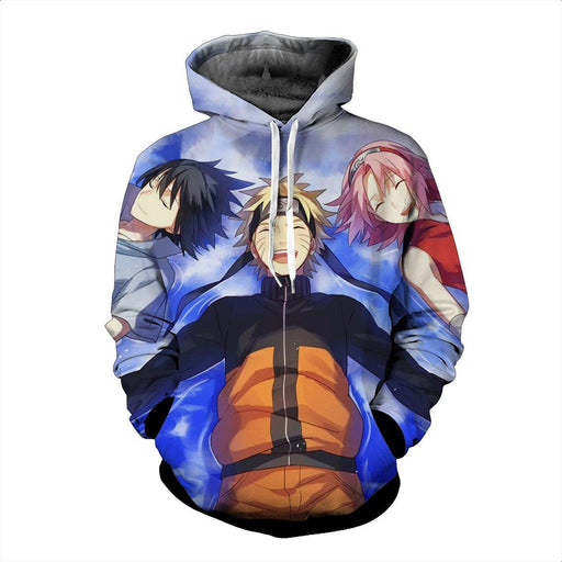 Sasuke Naruto Sakura Happy Moment The Great Friendship Cool Hoodie - Konoha Stuff