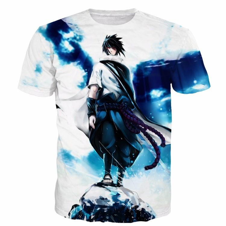 6678071c Sasuke Uchiha Tie Dye Style Naruto Abstract Blue Cool 3D T-Shirt — Konoha  Stuff