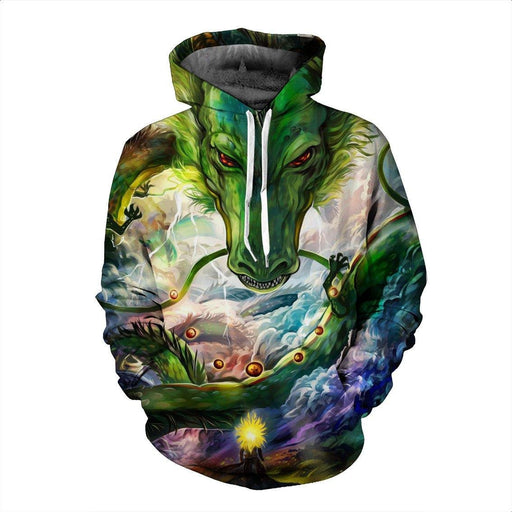 Shenron DBZ The Powerful Eternal Dragon Super Saiyan Battle Hoodie