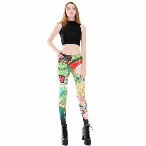 Shenron Goku Super Saiyan Women Compression Fitness Leggings Tights - Saiyan Stuff - 1
