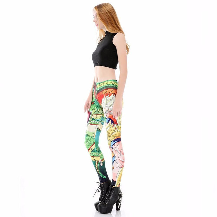 Shenron Goku Super Saiyan Women Compression Fitness Leggings Tights - Saiyan Stuff - 2
