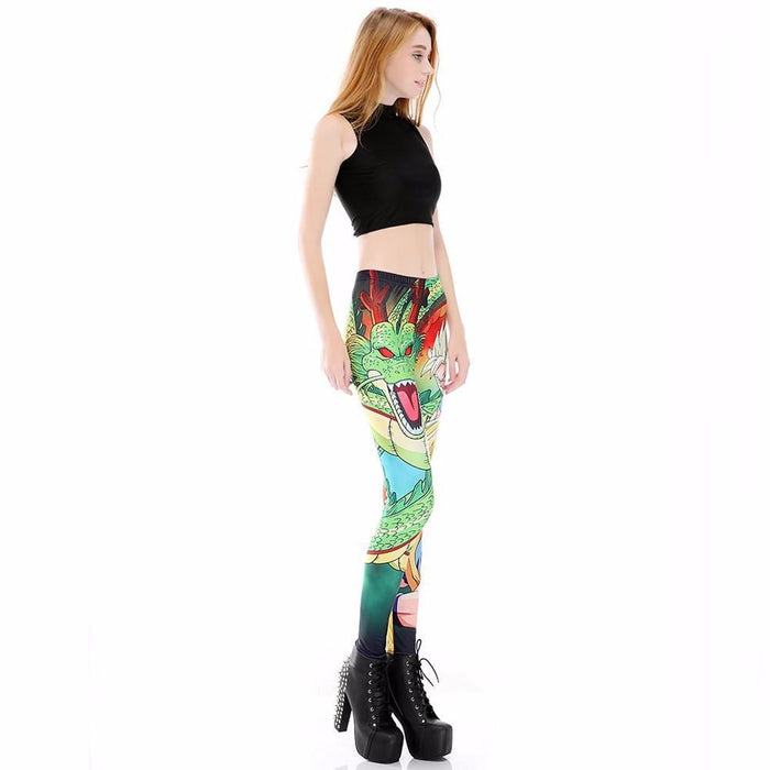 Shenron Goku Super Saiyan Women Compression Fitness Leggings Tights - Saiyan Stuff - 3