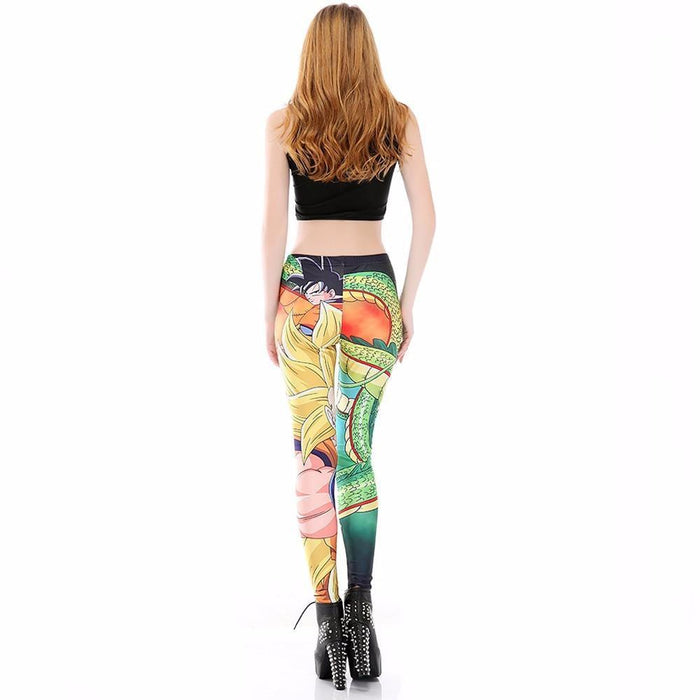 Shenron Goku Super Saiyan Women Compression Fitness Leggings Tights - Saiyan Stuff - 4