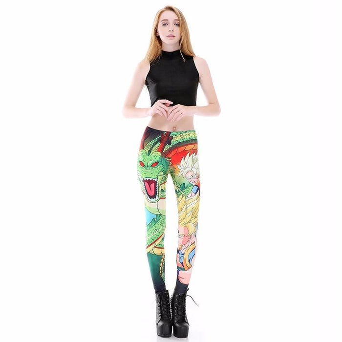 Shenron Goku Super Saiyan Women Compression Fitness Leggings Tights - Saiyan Stuff - 6