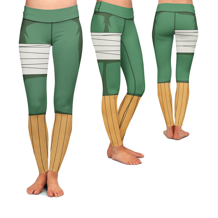 Shinobi Rock Lee Team Guy Green Yoga Pants Cosplay Leggings