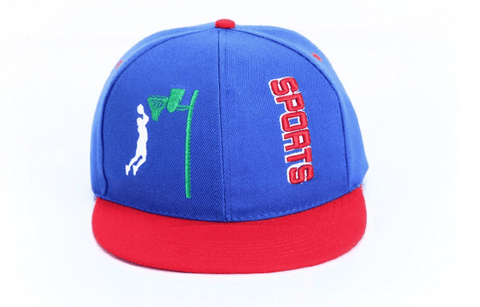 Slam Dunk Brand Logo Basketball Sports Blue Cap Baseball Hat Snapback - Konoha Stuff - 1