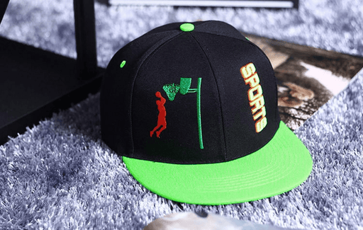 Slam Dunk Brand Logo Basketball Sports Green Cap Baseball Hat Snapback - Konoha Stuff - 1