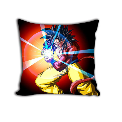 Son Goku SSJ4 Ape Kamehameha Attack Decorative Throw Pillow