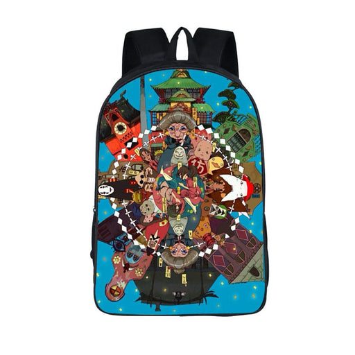 Spirited Away Vibrant Circle Of Character Backpack