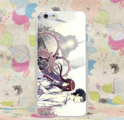 Steins Gate Makise Kurisu Okabe Rintarou Fan Arts iPhone 4 5 6 7 Plus Case