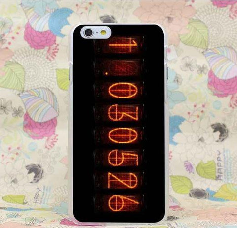 Steins Gate Special Number Fire Impressive Background iPhone 4 5 6 7 Plus Case