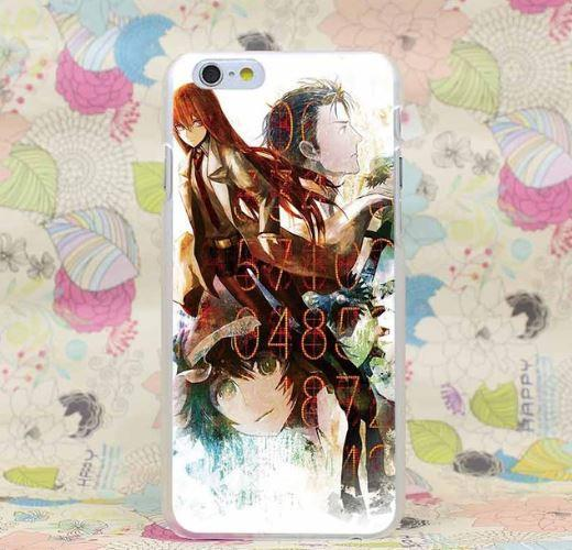 Steins Gate Three Main Characters Numbers Art Design iPhone 4 5 6 7 Plus Case