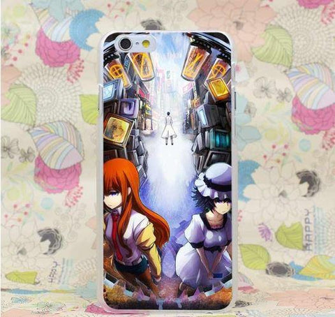 Steins Gate Three Main Characters Two Sides Cool iPhone 4 5 6 7 Plus Case