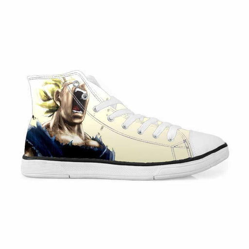 17db6dac21d Super Saiyan Vegeta Angry Mad Cool Design Sneakers Converse Shoes