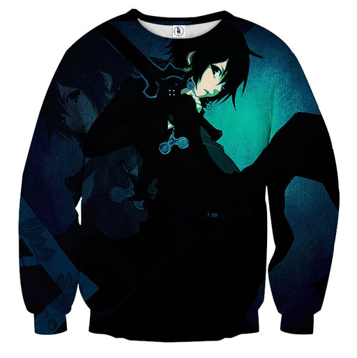 Sword Art Online Dope Kirito Reflection Black & Blue Sweater