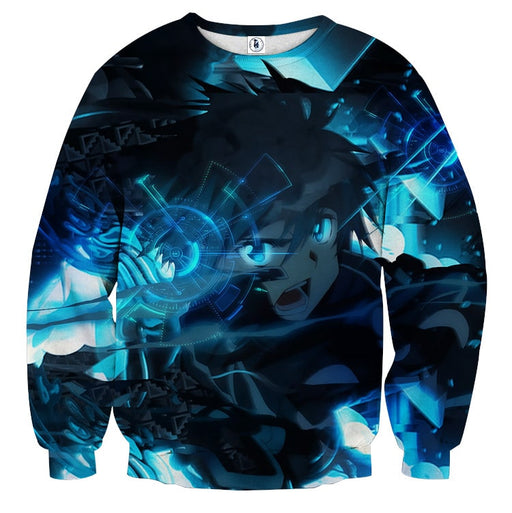 Sword Art Online Kirito Battle Cry Magnificent Blue Sweater