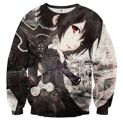 Sword Art Online Kirito Hero Swordsman Black & White Sweater