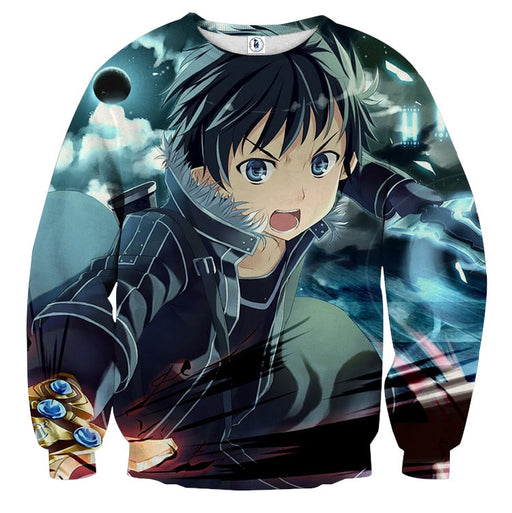 Sword Art Online Kirito Hero Swordsman Dark Sky Sweater