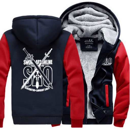 Sword Art Online SAO Elucidator Lambent Light Swords Red Hooded Jacket - Konoha Stuff
