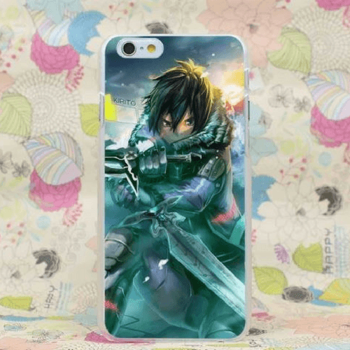 Sword Art Online SAO Kirito Winter Armor Concept iPhone 4 5 6 7 Plus Case